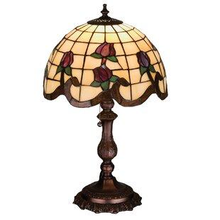 Meyda tiffany table lamps youll love wayfair roseborder 20 table lamp by meyda tiffany aloadofball Choice Image