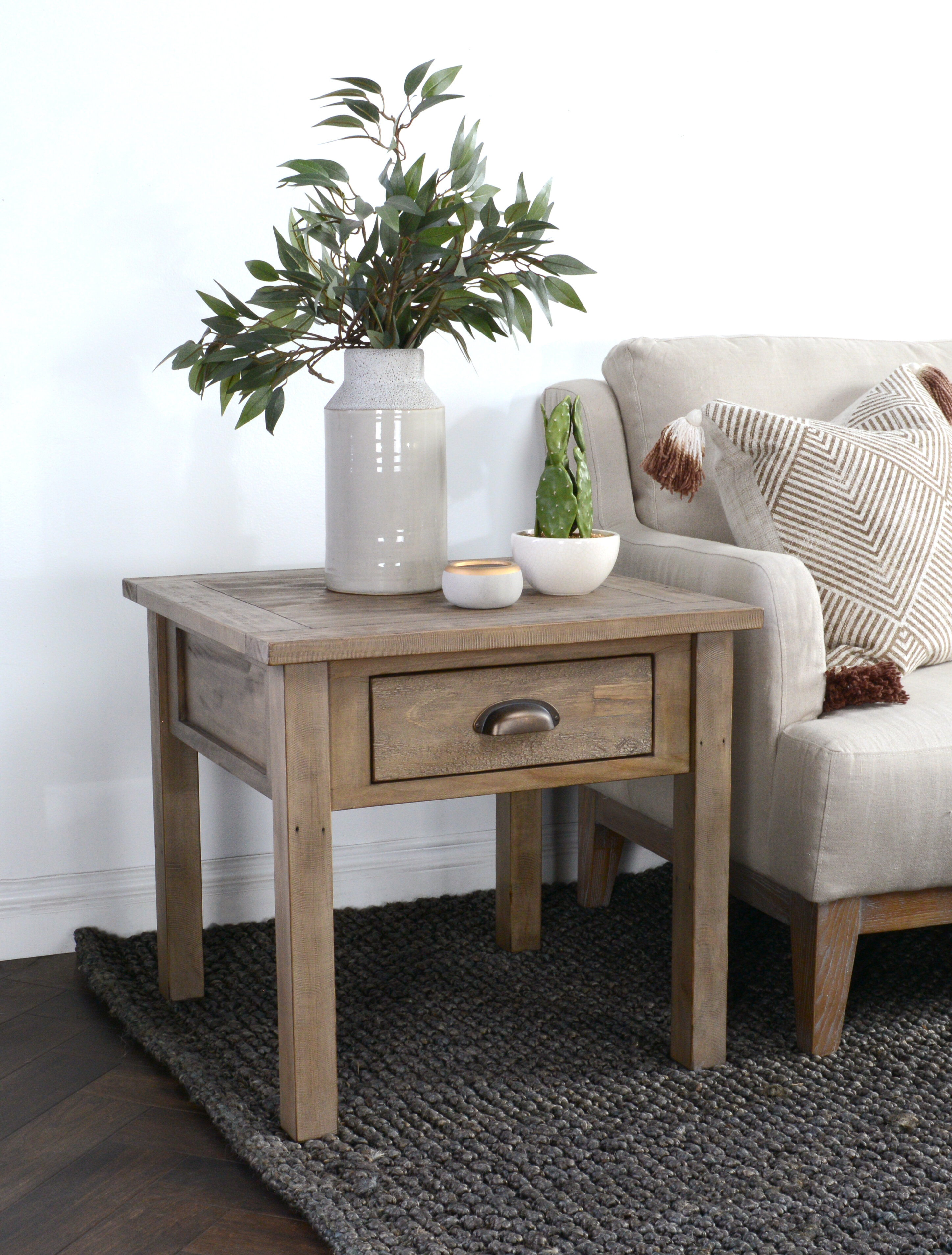 Picture of: Highland Dunes Emsworth Driftwood End Table Reviews