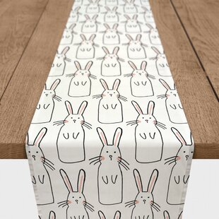 Gandara Cute Rabbit Cotton Table Runner