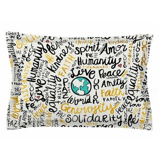 Pom Graphic Design 'Positive Messages Gold' Illustration Sham
