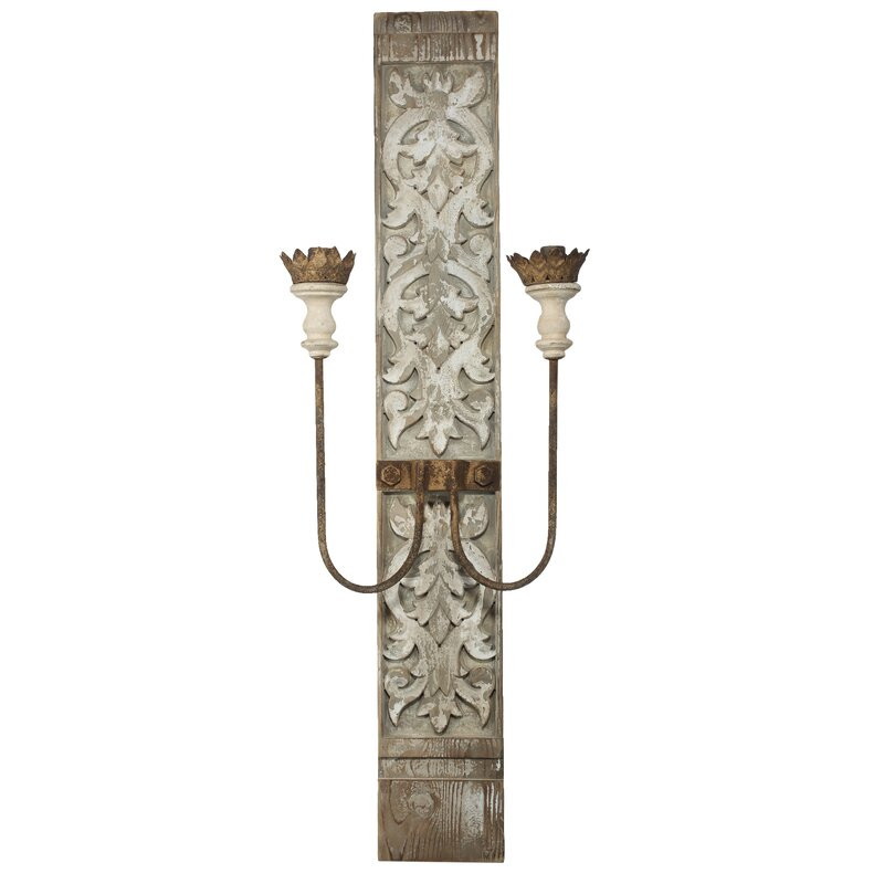 Montfort 2-Light Wall Sconce - a beautiful French country lighting option for your European country and French inspired interiors.