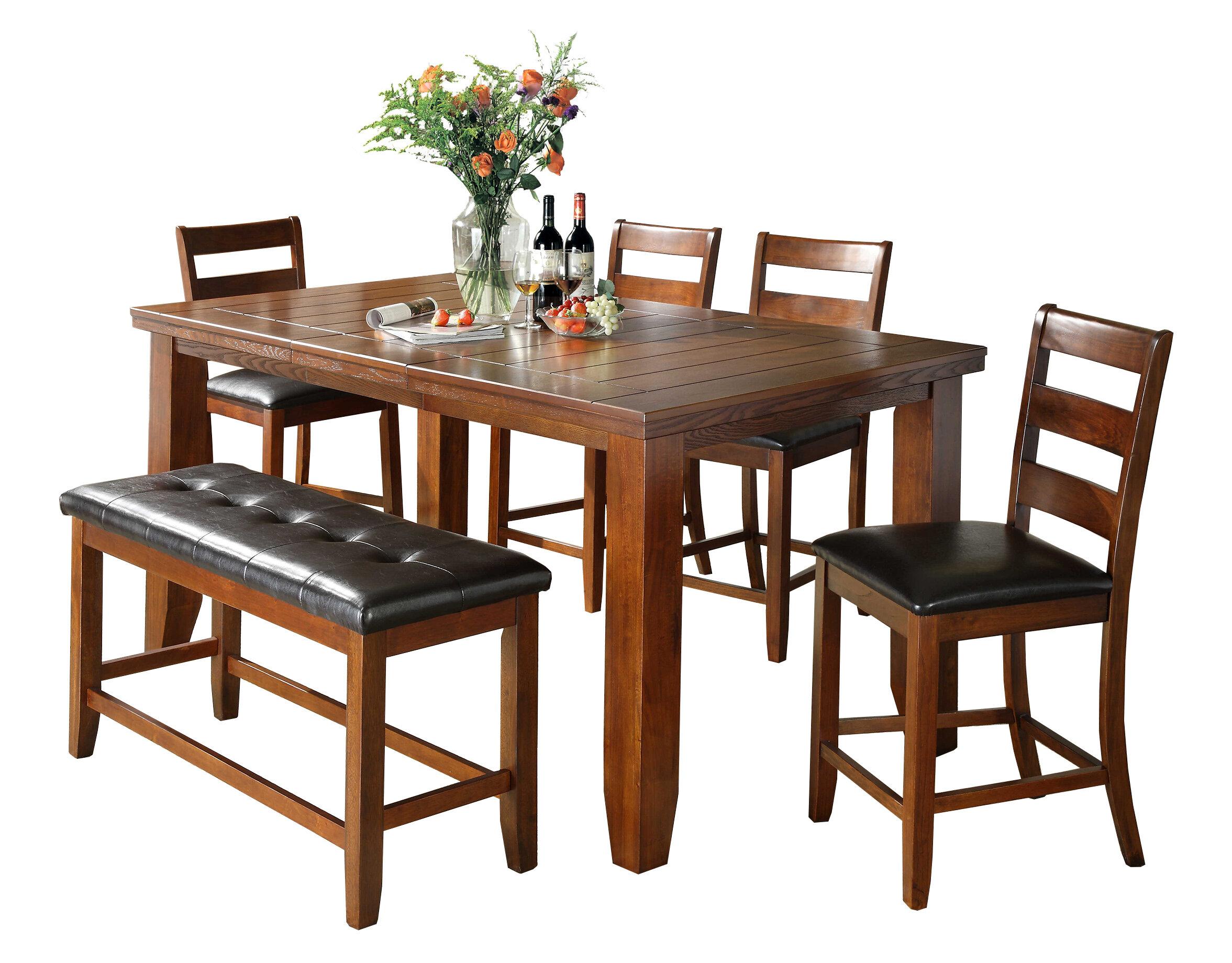 Bon Loon Peak Bridlewood 6 Piece Counter Height Dining Set | Wayfair