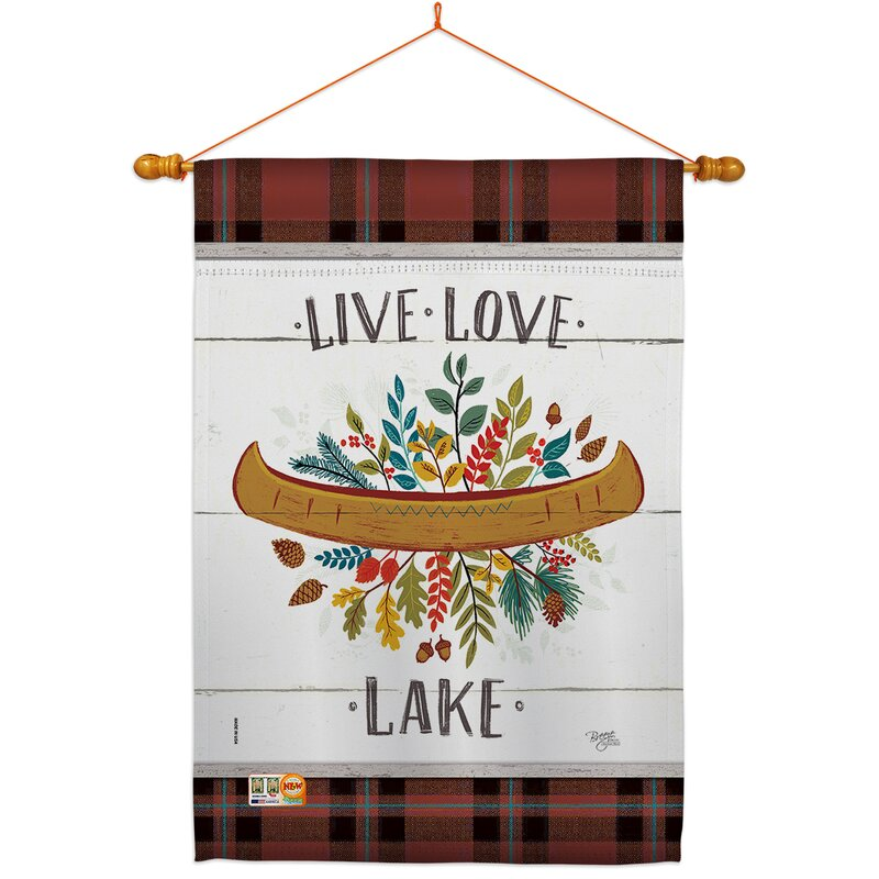 Breeze Decor Live Love Lake Impressions Decorative 2 Sided Polyester 40 X 28 In Flag Set Wayfair