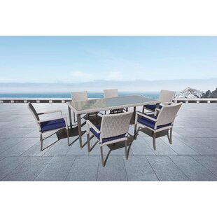 Beauvallon 7 Piece Sunbrella Dining Set w..
