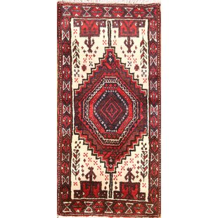One Of A Kind Opal Clical Balouch Persian Traditional Hand Knotted Runner 1 4 X 2 11 Wool Beige Burgundy Area Rug