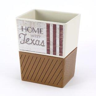 Avanti Linens Home Sweet Texas 64 Gallon Waste Basket