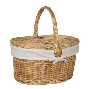 Buff Oval Picnic Basket By August Grove