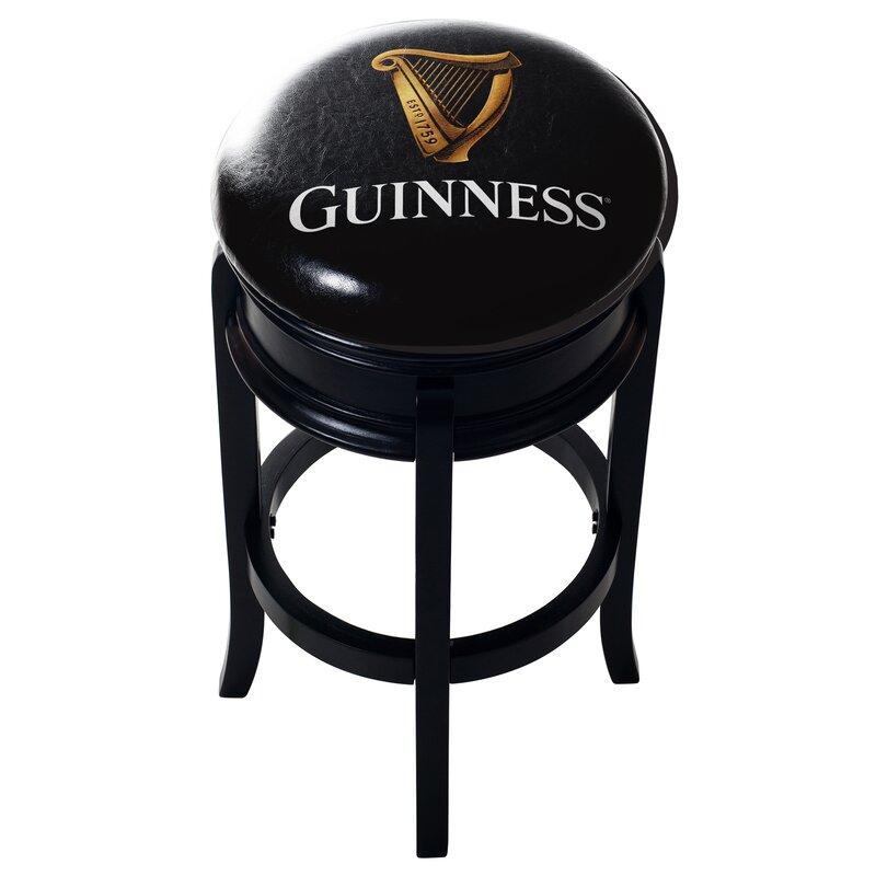 Guinness Wood Swivel Bar Stool