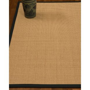 Reviews Chaves Border Hand-Woven Wool Beige/Onyx Area Rug ByRosecliff Heights