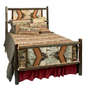 Hickory Adirondack Panel Bed by Fireside Lodge