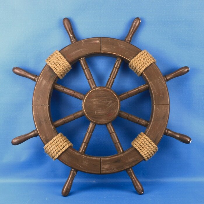 Ship Wheel Wood Wall Décor