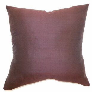 Chambray Plain Silk Throw Pillow