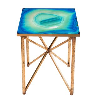 Bleu Agate End Table by Statements by J