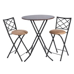 Goulding 3 Piece Pub Table Set by Fleur De Lis Living