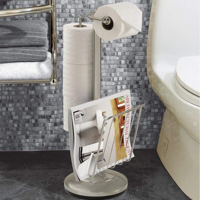 Bathroom Accessories Toilet Paper Holders better living products free standing toilet paper holder & reviews