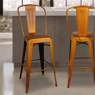 Brace 30 Bar Stool (Set of 2) by Williston Forge
