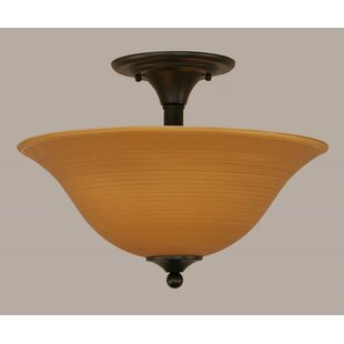 Welsh 2-Light Semi Flush Mount by Red Barrel Studio