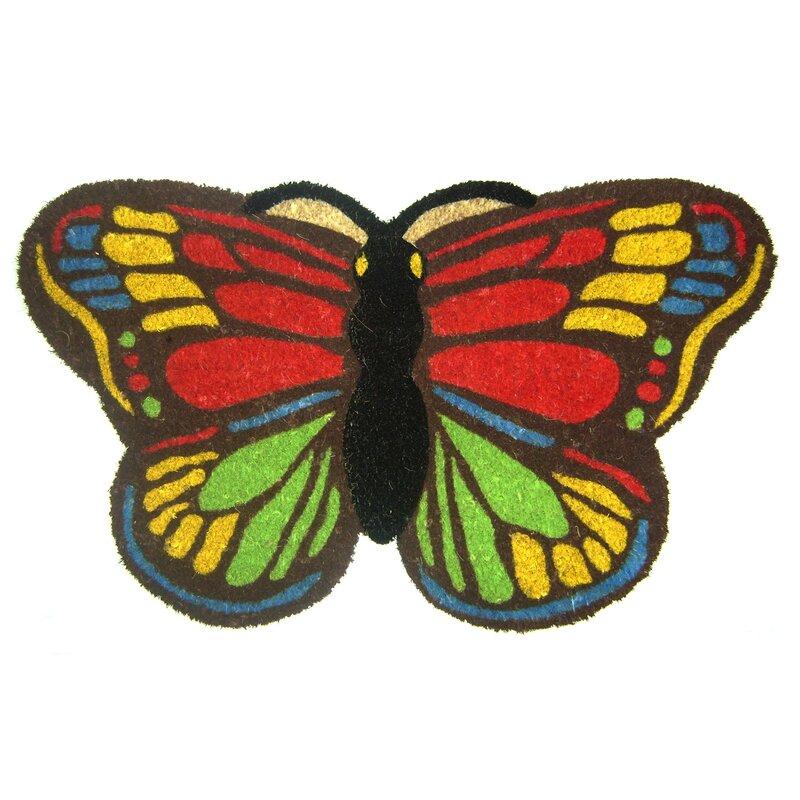 Geo Crafts Colorful Butterfly Doormat Reviews Wayfair