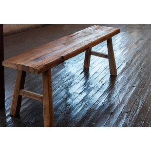 Val Solid Wood Bench by Loon Peak
