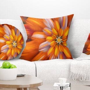 Floral Massive Fractal Flower Pillow