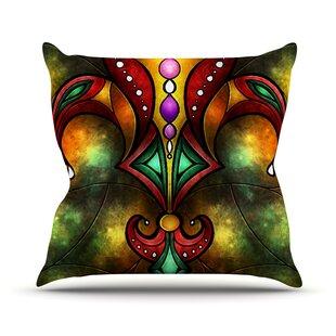 Fleur De Lis By Man Manzano Warm Throw Pillow