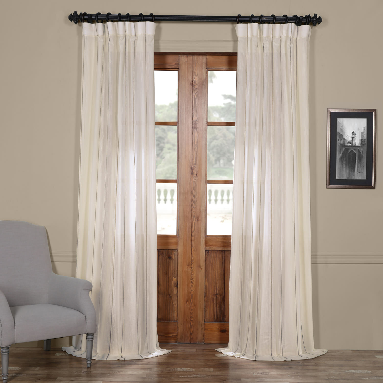 Shattuck Aruba Striped Sheer Rod Pocket Single Curtain Panel