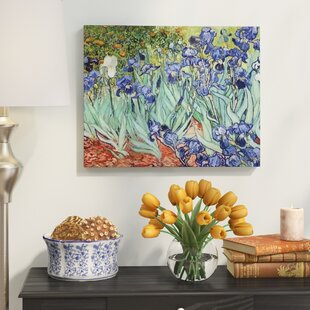 Irises By Vincent Van Gogh Oil Painting Print On Wrapped Canvas