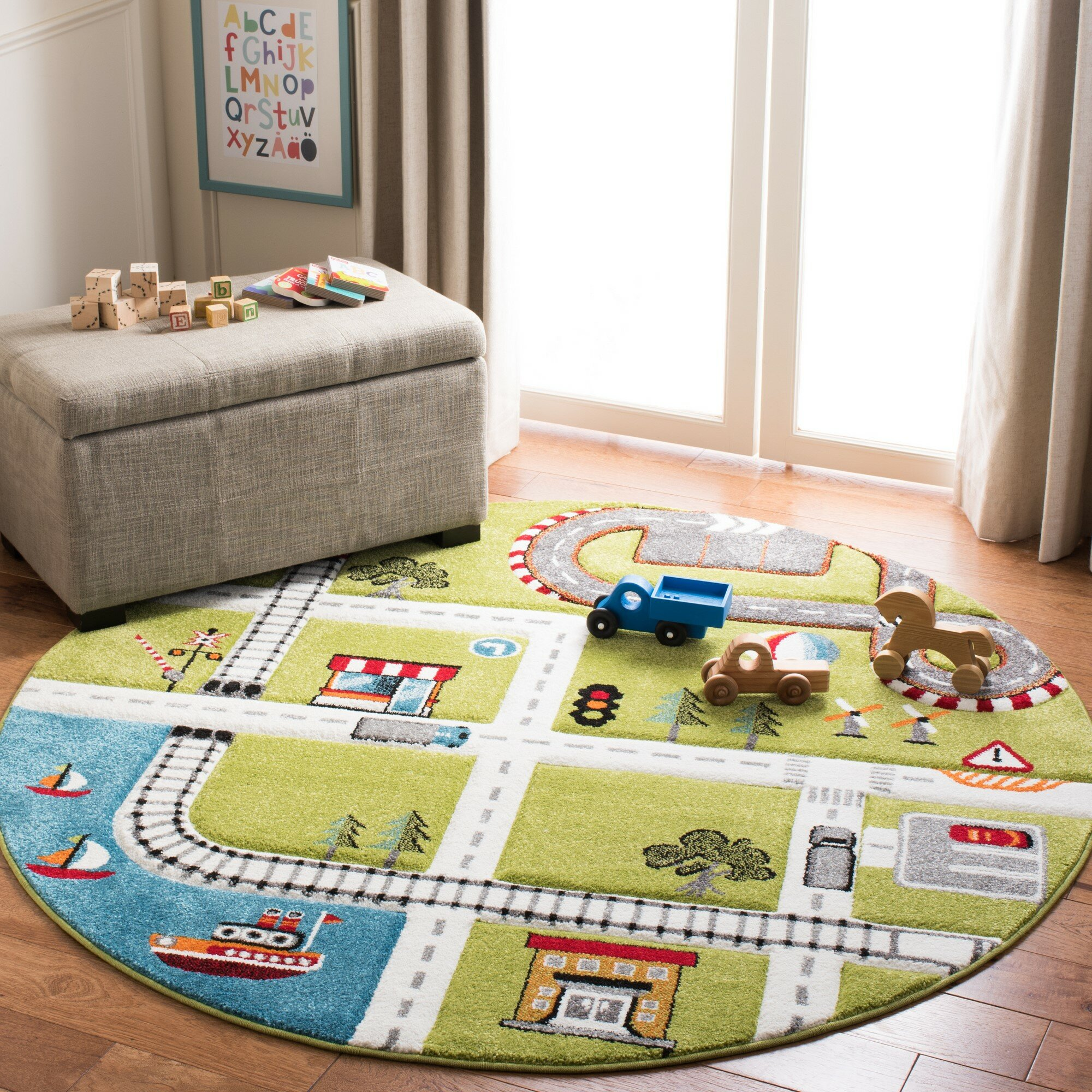 Swinehart Kids Green Area Rug