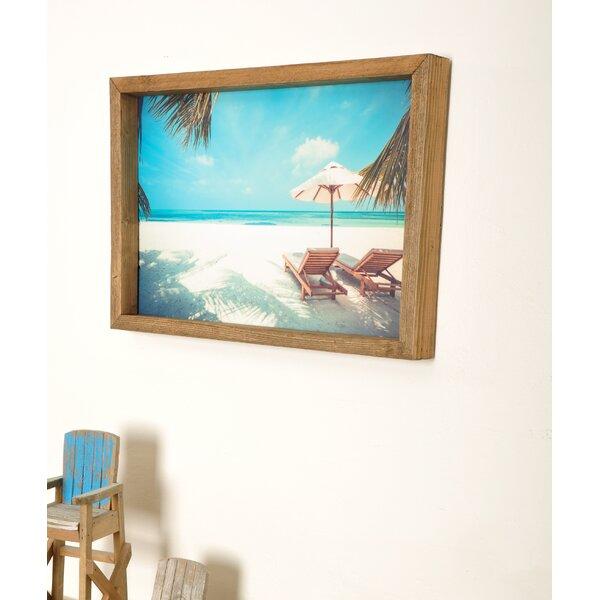 Dovecove Beach Scene Wood Framed Art Print Picture Frame Print On Acrylic Wayfair
