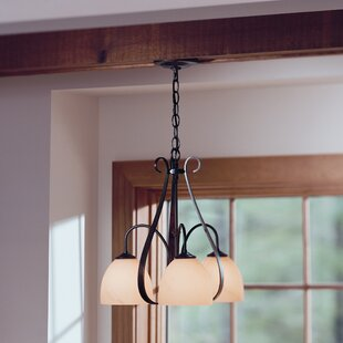 Hubbardton Forge 3-Light Shaded Chandelier