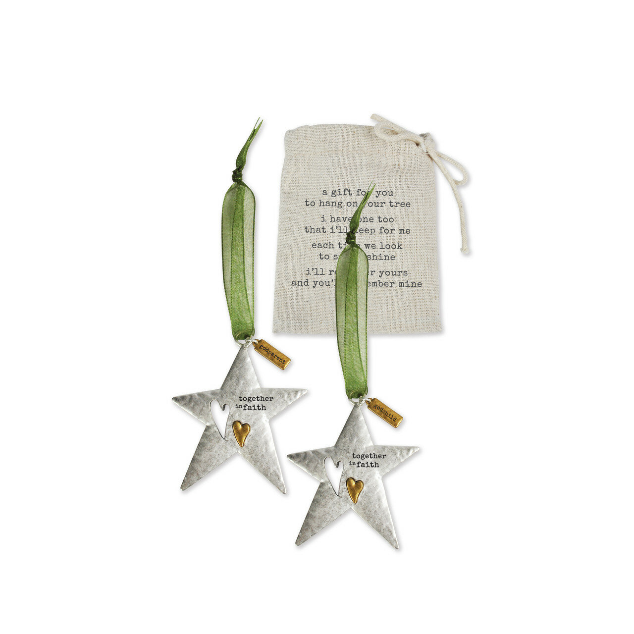 The Holiday Aisle Godparent And Godchild One To Keep One To Share Holiday Shaped Ornament Wayfair
