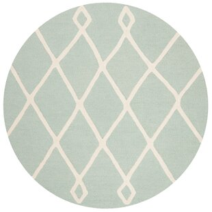 Claro Moroccan Hand-Tufted Wool Mint Area Rug by Harriet Bee