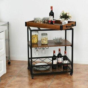 Vitiello Serving Bar Cart By Everly Quinn Last Chance