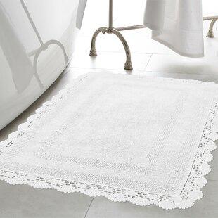 Read Reviews Crochet 100% Cotton Bath Rug ByLaura Ashley