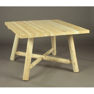 Rustic Natural Cedar Furniture Solid Wood Dining Table
