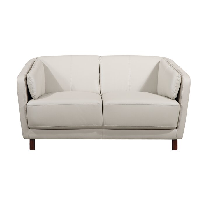 Awesome Lavallie Mid Century Modern Loveseat Bralicious Painted Fabric Chair Ideas Braliciousco