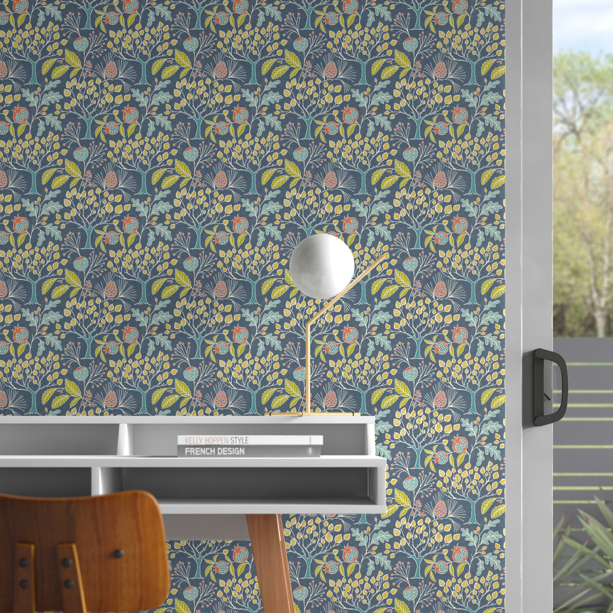asotin garden semi gloss peel 18 l x 205 w and stick wallpaper roll