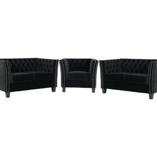 Ferncliff 3 Piece Sofa Set By Rosalind Wheeler