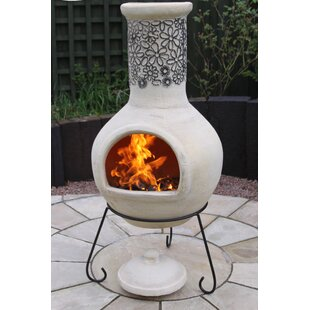 Steel Wood/Charcoal Chiminea By Gardeco