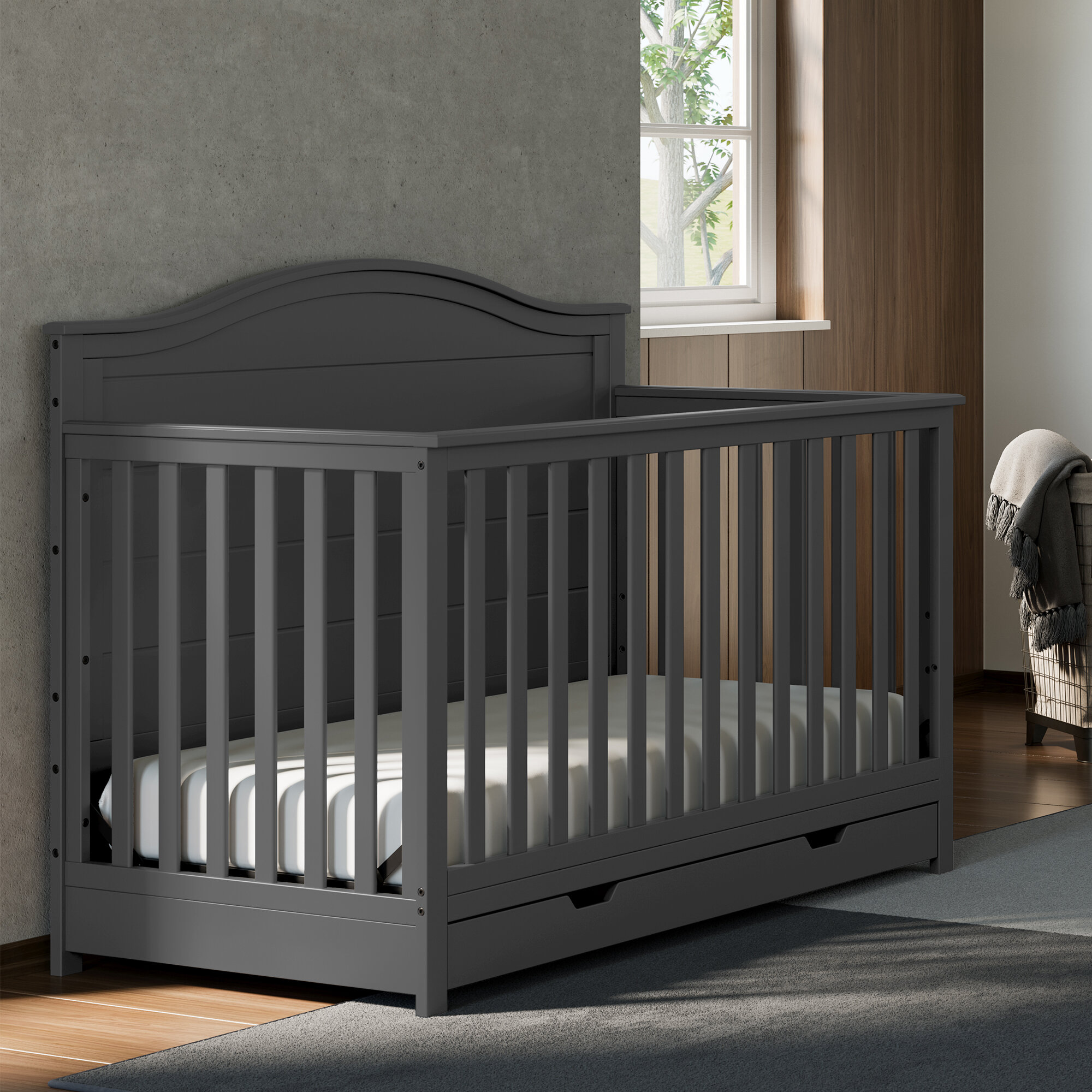Storkcraft Moss 4 In 1 Convertible Crib With Storage Reviews Wayfair