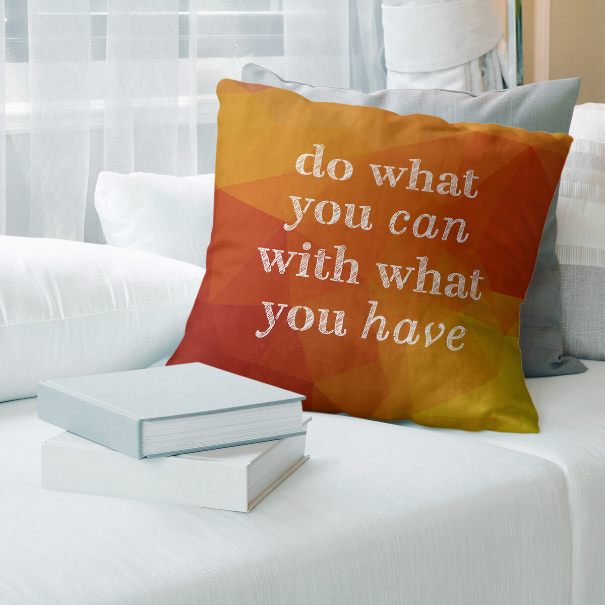 East Urban Home Faux Gemstone Do What You Can Quote Pillow Cover Wayfair