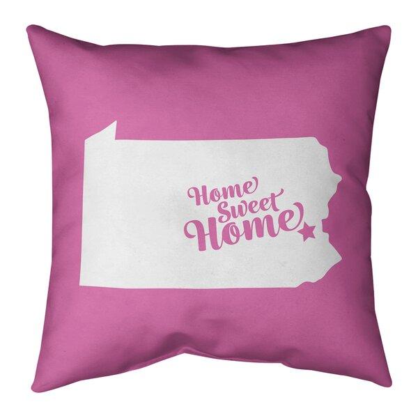East Urban Home Us Cities States Home Sweet Indoor Outdoor Throw Pillow Wayfair