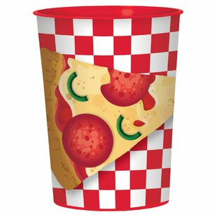Pizza Party Plastic Disposable Every Day Cup (Set of 15)