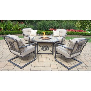 Oakland Living 5 Piece Deep Seating Chat Set with Cushions
