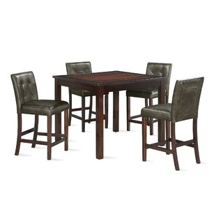 Sison 5 Piece Counter Height Dining Set DarHome Co