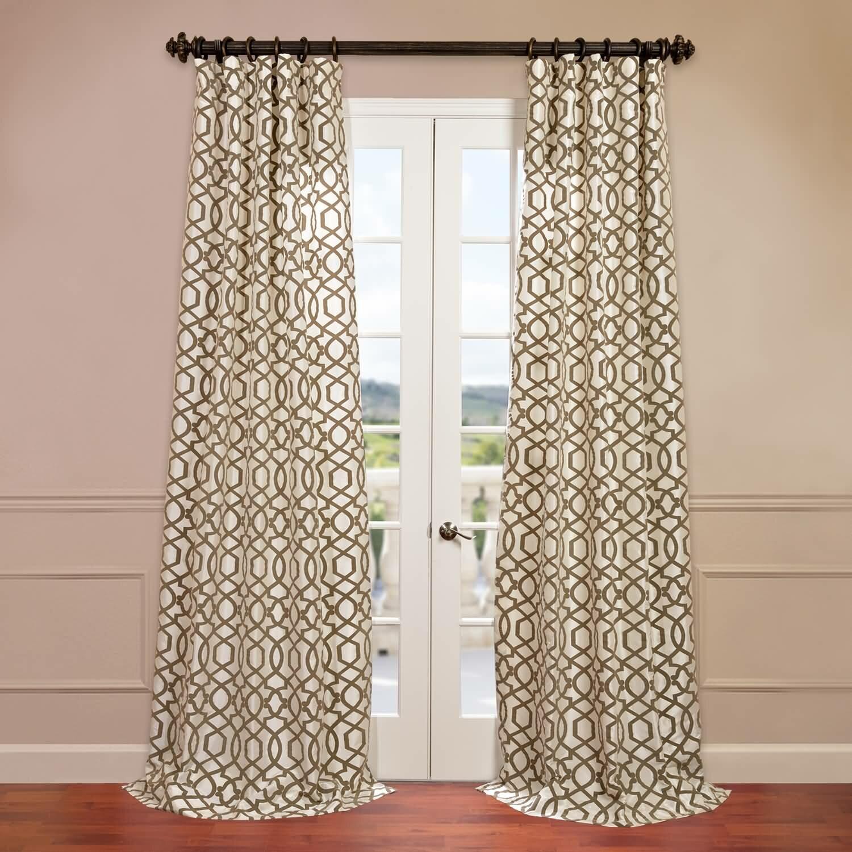 World Menagerie Gurveen Filigree Flocked Faux Silk Geometric Room Darkening Thermal Rod Pocket Single Curtain Panel Reviews Wayfair
