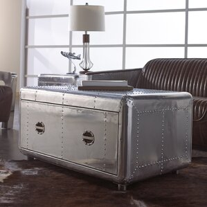 Lindbergh Bomber Coffee Table by Lazzaro Leather