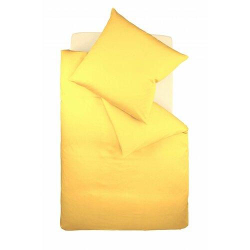 Mako-Satin Bettwäsche Colours Fleuresse Größe: 200 x 200 cm - 2 Kissenbezüge 80 x 80 cm| Farbe: Gelb | Heimtextilien > Bettwäsche und Laken > Bettwäsche-Garnituren | Fleuresse