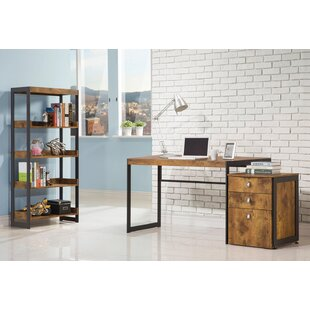 Elodia Writing Desk with Bookcase
