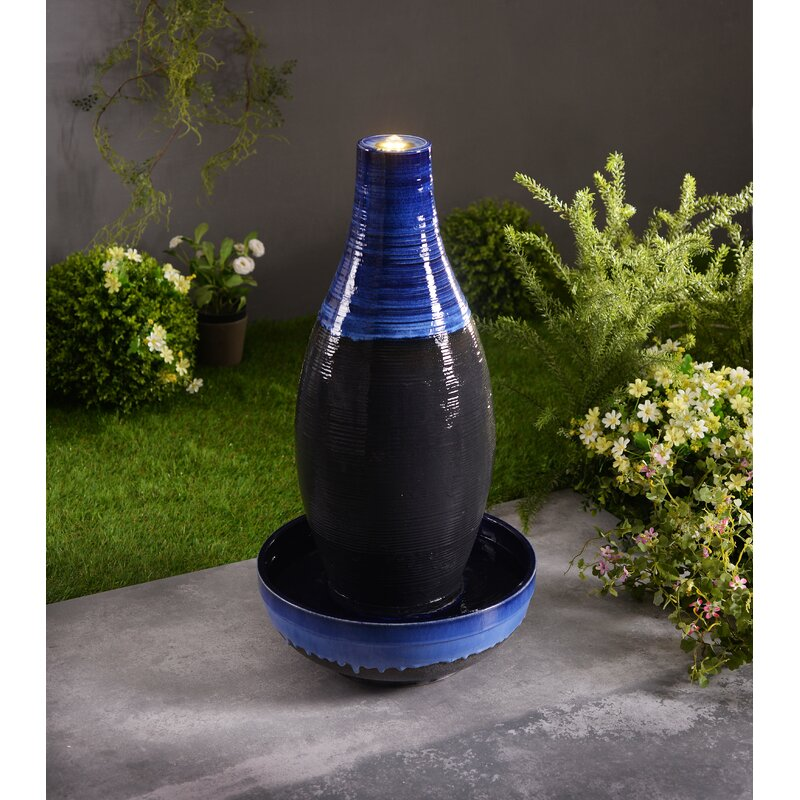 Wrought Studio Florentine Ceramic Floor Fountainwith Light Reviews Wayfair